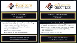 Business Cards printed by Office Max